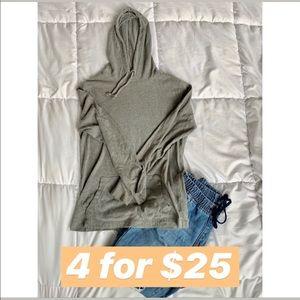 GAP Softest Ultra Duo Grey Hooded Shirt w pocket